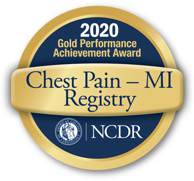 NCDR American College of Cardiology Chest Pain - MI Registry 2020 Gold Performance Achievement Award