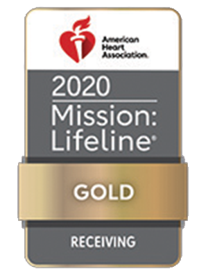 American Heart Association Mission Lifeline Gold Receiving, 2020