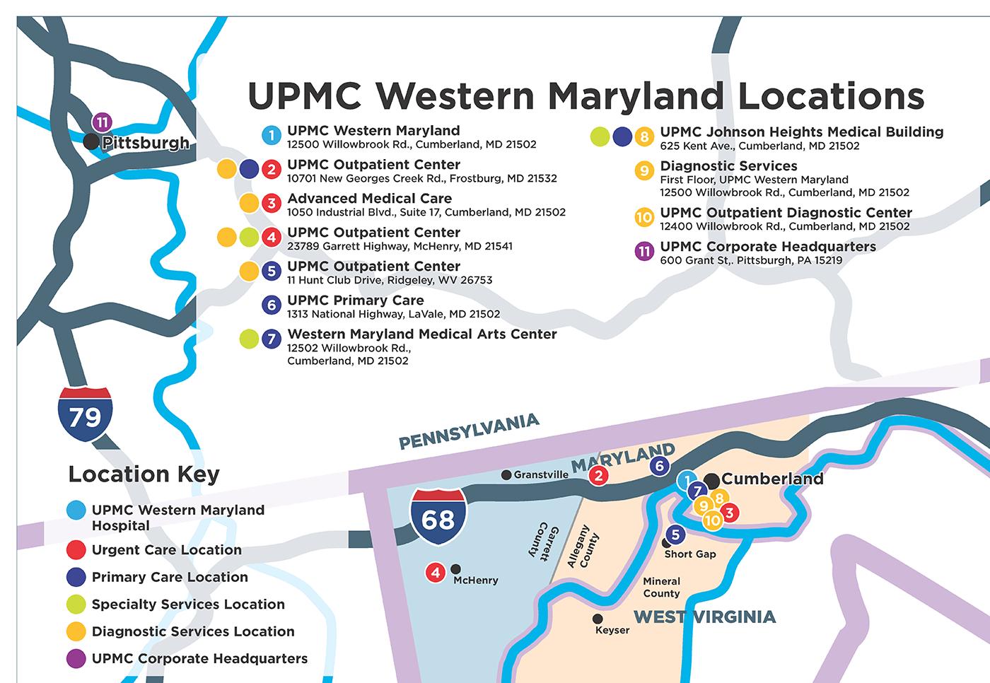 UPMC Western Maryland Locations
